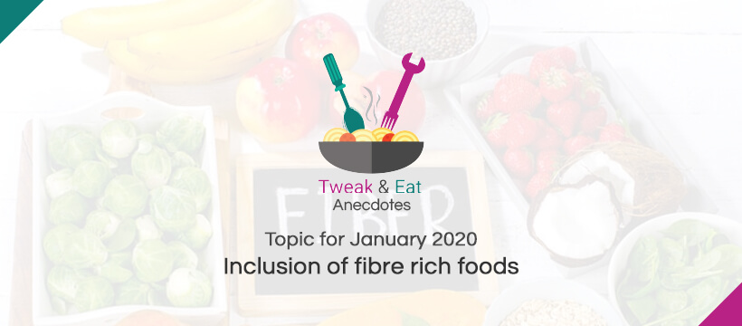 TweaK & Eat Anectodes Topic for January Inclusion of fibre rich foods